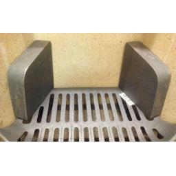 """!NEW! Cast Iron Fire Brick Side Cheeks for 16"""" & 18"""" Coal Solid Fuel Grate Metal"""
