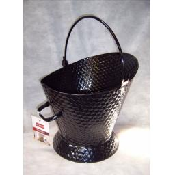 NEW Deville Weave Waterloo Bucket & Handle Coal Ash Hod Fire Log Holder BLACK