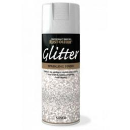 SILVER GLITTER SPARKLING FINISH RUST-OLEUM Fast Dry Spray Paint Aerosol 400ml