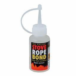 Glass Fibre STOVE ROPE BOND 50ml Adhesive Glue Fire