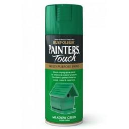 MEADOW GREEN Gloss Fast Dry Spray Paint Aerosol 400ml Multi-Purpose RUST-OLEUM
