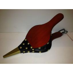 !!NEW!! Traditional Fire Bellows Red Mahogany Colour with Brass Rivets 16""