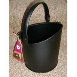 DEVILLE Mini Coal Fire Log Burner Bucket Hod Holder with Handle BLACK small
