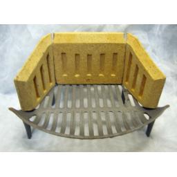 """16"""" Fire Grate & Brick Set Sides & Back 8 inch for Coal Solid Fuel Grate Burner"""