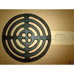 """!NEW! 7.5"""" ROUND Cast Iron Gully Grid Driveway Drain Cover Metal Wrought Gutter"""