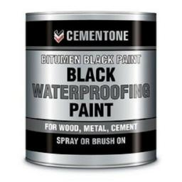 Black Bitumen Paint 1 litre waterproof roofing