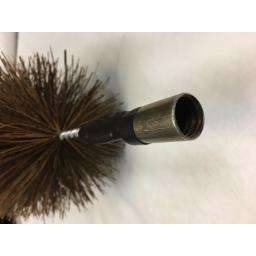 """4"""" inch x 30ft Long Flue Brush Chimney Soot Cleaning Sweeping Set Drain Rods"""