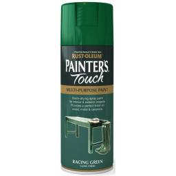 RACING GREEN GLOSS Fast Dry Spray Paint Aerosol 400ml