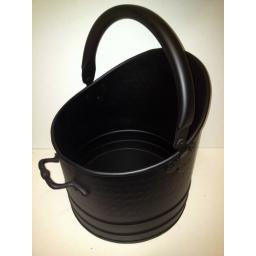 !NEW! HEAVY DUTY LRG All Black SATIN Quality Coal Bucket Hod Ash Fire Log Fuel