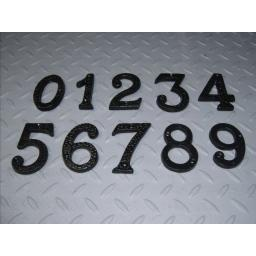 "NEW 3"" inch Metal Black Wrought Iron Numbers House Door Sign 1 2 3 4 5 6 7 8 9 0"