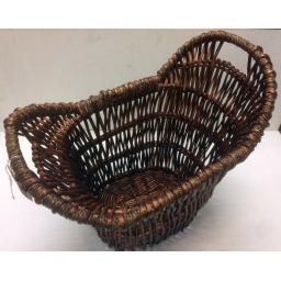 Oval B All Size Heavy Duty Hand Made Wicker Coal Fire Log Laundry Storage Basket