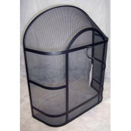 "Deville Heavy Duty Round Top Fire Screen Spark Guard 24""x21"" with carry ring"