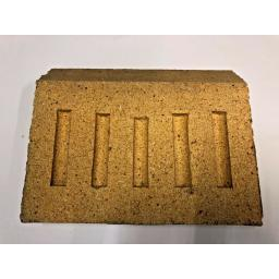 """9"""" inch Fire Brick BACK for Coal Solid Fuel Open Fires 9"""" wide x 6"""" high Pizza"""