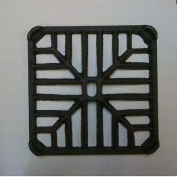 "5"" SQUARE Cast Iron Metal Gully Grid Driveway Drain Cover"