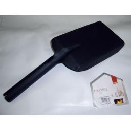 """Deville Strong Matt Black 5.5"""" Fire Shovel for Ash Coal Logs Soot Scoop Spade"""