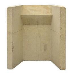 """18 """" Inch Clay Fire Back Surround Solid Fuel Open Coal Fireback One Piece Build"""