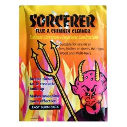 Sorcerer Chimney Cleaner Coal Fires Wood Burning Stoves