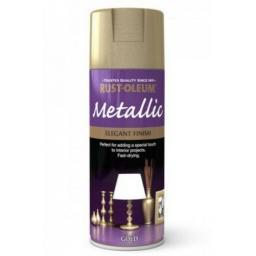 ELEGANT FINISH GOLD RUST-OLEUM Fast Dry Spray Paint Aerosol 400ml