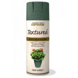 TEXTURED DEEP FOREST RUST-OLEUM Spray texture & feel Paint Aerosol 400ml