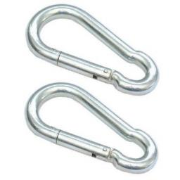 2 x (Choose Size) CARBINE CARABINER Hook Snap Spring Chain Clip STEEL Galvanised