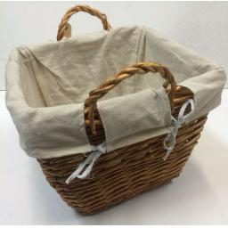 Square B Sizes Heavy Duty Hand Made Wicker Coal Fire Log Laundry Storage Basket