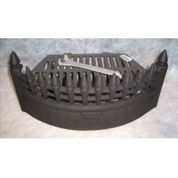 "Castle Curved 18"" inch BLACK SOLID FUEL COAL FIRE KIT SET GRATE ASHPAN FRET"