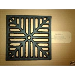 "8"" SQUARE Cast Iron Gully Grid Driveway Drain Cover"