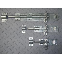 Quality Sliding Padlock Pad Bolt Galvanised Door Gate Garden 4 6 8 10 12 inch