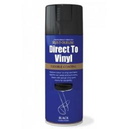 DIRECT TO VINYL GLOSS BLACK RUST-OLEUM Fast Dry Spray Paint Aerosol 400ml