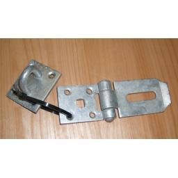 """GA Heavy Duty Hasp & Staple Door Shed Garage lock 4""""x2"""""""