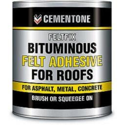 Black Bitumen Felt Adhesive 2.5 litre sealing roofing