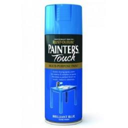 Brilliant Blue Gloss Fast Dry Spray Paint Aerosol 400ml