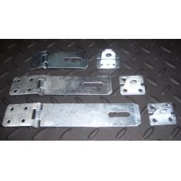 "Heavy Duty Door Gate Hasp & Staple Sizes 3"" 4"" 6"" inch Black or Zinc Security"