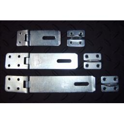 "Heavy Duty Door Gate Hasp & Staple Sizes 3"" 4"" 6"" inch Black or Zinc Security"