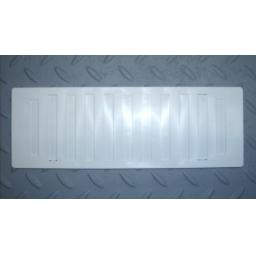 "!NEW! 3.5""x9.5"" Hit & Miss Air Vent Ventilator Cover White Adjustable Flyscreen"
