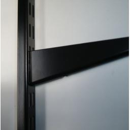 NEW White Black Brown Twin Slot Shelving Uprights & Shelf Brackets Twinslot Unit