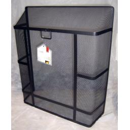"X-LARGE Deville Heavy Duty Square Top Fire Screen Spark Guard 28""x24"" carry ring"