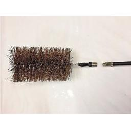 "!!NEW!! 6"" Inch FITS DRAIN RODS Flue Brush Fire Chimney Soot Cleaning Sweeping"