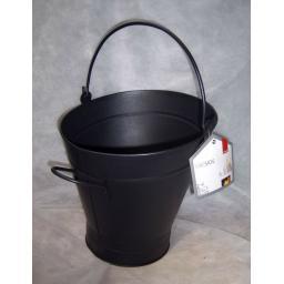 !!NEW!! Deville MINI Waterloo Bucket & Handle Coal Hod Ash Fire Log Holder BLACK