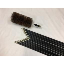 "NEW 5"" inch x 30ft Long Flue Brush Chimney Soot Cleaning Sweeping Set Drain Rods"