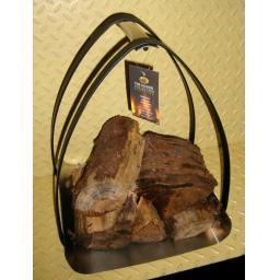MANOR VAULT Log Holder HEAVY DUTY Storage Basket Round Fire Stand Carrier Chrome