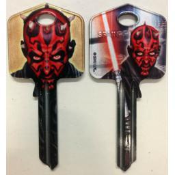 Star Wars DARTH MAUL Blank Key fit Yale 1A/U6D/UL2 Lightsabre The Force Awakens