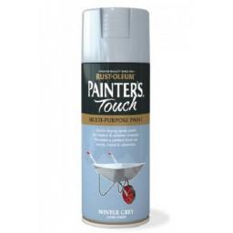 Winter Grey Gloss Fast Dry Spray Paint Aerosol 400ml Multi-Purpose RUST-OLEUM