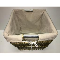 Square 355 Heavy Duty Hand Made Wicker Coal Fire Log Laundry Storage Basket