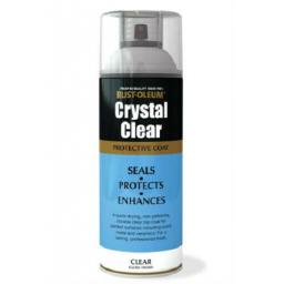 Rustoleum CRYSTAL CLEAR GLOSS FINISH Fast Dry Spray Paint LACQUER Aerosol 400ml