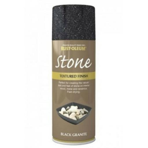 STONE EFFECT BLACK GRANITE RUST-OLEUM Spray texture & feel Paint Aerosol 400ml