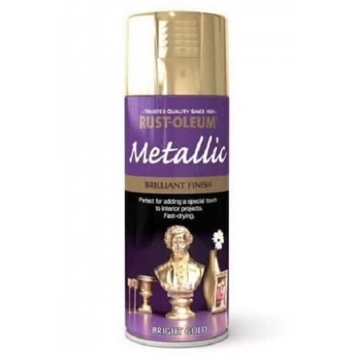 Rust-Oleum Brilliant Finish Bright Gold Fast Dry Spray Paint Aerosol 400ml