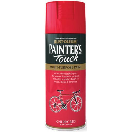 CHERRY RED GLOSS Fast Dry Spray Paint Aerosol 400ml
