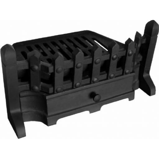 "Beacon 18"" Solid Fuel Coal Fire Kit Grate Ashpan Fret"