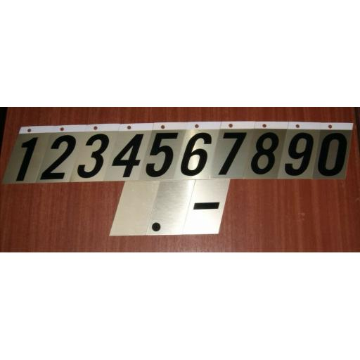 """Stick on 3.5"""" Metal Self Adhesive Letters House Door Sign Dustbin Gold"""